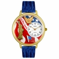 July 4th Patriotic Watch in Gold or Silver Unisex G 1220022