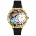 Music Lover Watch in Gold or Silver Unisex G 0510016