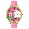Pink Glitter Clown Watch in Gold or Silver Unisex G 0210009