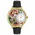 Pizza Lover Watch in Gold or Silver Unisex G 0310016