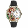 Pizza Lover Watch in Gold or Silver Unisex U 0310016