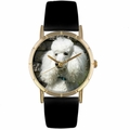 Poodle Print Watch in Gold Classic P 0130059