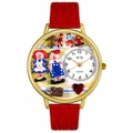 Raggedy Ann and Andy Watch in Gold or Silver Unisex G 0220006
