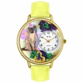 Siamese Cat Watch in Gold or Silver Unisex G 0120007