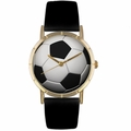 Soccer Lover Print Watch Classic Gold Style P 0840007