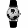 Soccer Lover Print Watch Classic Silver Style R 0840007