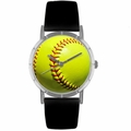 Softball Lover Print Watch Classic Silver Style R 0840003