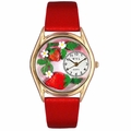 Strawberries Watch Classic Gold Style C 1210006