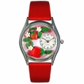 Strawberries Watch Classic Silver Style S 1210006