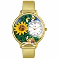 Sunflower Watch in Gold or Silver Unisex G 1210009
