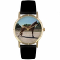 Tenessee Walker Horse Print Watch in Gold Classic P 0110031