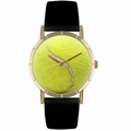 Tennis Lover Print Watch Classic Gold Style P 0840011