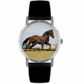 Thoroughbred Horse Print Watch in Silver Classic R 0110032