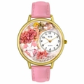 Valentines Day Watch  Pink  in Gold or Silver Unisex G 1220024