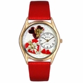 Valentines Day Watch  Red  Classic Gold Style C 1226001