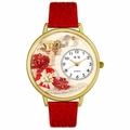 Valentines Day Watch  Red  in Gold or Silver Unisex G 1220033