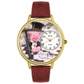 What a Ham Pig Watch in Gold or Silver Unisex G 0110015