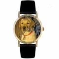 Yellow Labrador Retriever Print Watch in Gold Classic P 0130081