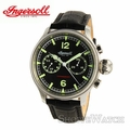 Ingersoll IN4600BK Mens Mechanical Chronograph Leather Watch