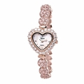 Riana RCW0007 Womens Heart Shaped Rose Gold Bling Watch