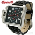 Ingersoll IN1613BKWH Bison No. 11 Mens Black Leather Watch