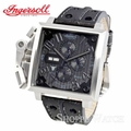 Ingersoll IN1613BKBK Bison No. 11 Mens Square Black Leather Watch