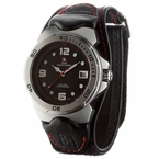 Nylon Velcro Watch Swiss Mountaineer 1451 Black Strap