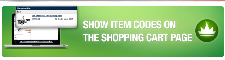 Show Item Codes In Shopping Cart