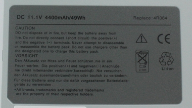 6-Cell Secondary Media Bay Battery mediabay/ d-bay for DELL Latitude D