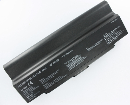 High Capacity 9-Cell 7800 mAh VGP-BPL9 BPS9 Laptop Battery for Sony VGN-CR407 series