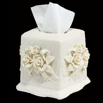 Tissue Holders With Eleganceand Durability Purchase Your Here Today Porcelain Holder Is Decorated Lovely Roses