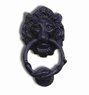 Our Black Wrought Iron Lion Head Door Knocker Makes An Exquisite Addition  To Any Entry Door. Offers A Great Colonial Or Rustic Adornment For A Period  Or ...