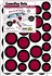 Game Day Dot Magnets - Maroon & Black