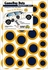 Game Day Dot Magnets - Blue & Gold