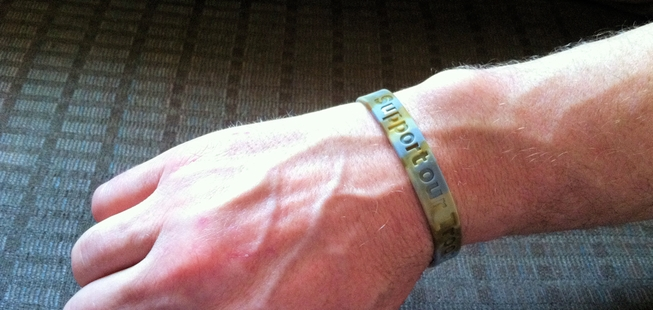 Extra Large Adult Size Awareness Wristbands