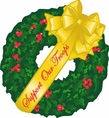 Support Our Troops Christmas Wreath Car Magnet
