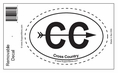 """""""Cross Country"""" Bumper Sticker Decal - Oval"""