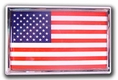American Flag - Chrome Emblem Frame