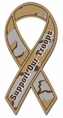 Support Our Troops Ribbon Car Magnet - Camouflage / Camo