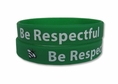 """Be Respectful"" Rubber Bracelet Wristband - Adult 8"""