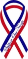 """Support Our Troops"" Ribbon Mini Car Magnet in Red, White, and Blue"