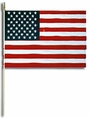 "American Stick Flags for Parades & Memorials 12"" by 18"""