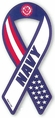 Navy Military Ribbon Car Magnet