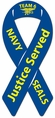 Navy Seals Team Six  Ribbon Car Magnet