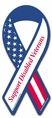 Support Disabled Veterans  Ribbon Car Magnet