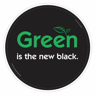 """Green is the new black."" Car Magnet - Special Order Item"