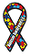 Autism Awareness Mini Ribbon Car Magnet