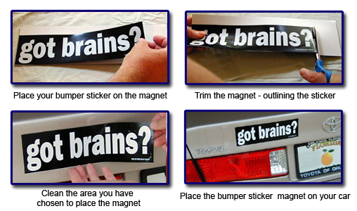 Blank Magnetic Bumper Stickers