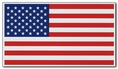 "Old Glory 4"" x 7"" US flag magnet - value priced"