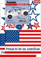 USA American Flag Patriotic Car Magnet Set